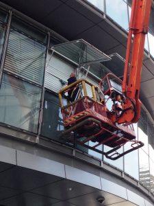 cherry picker window cleaning