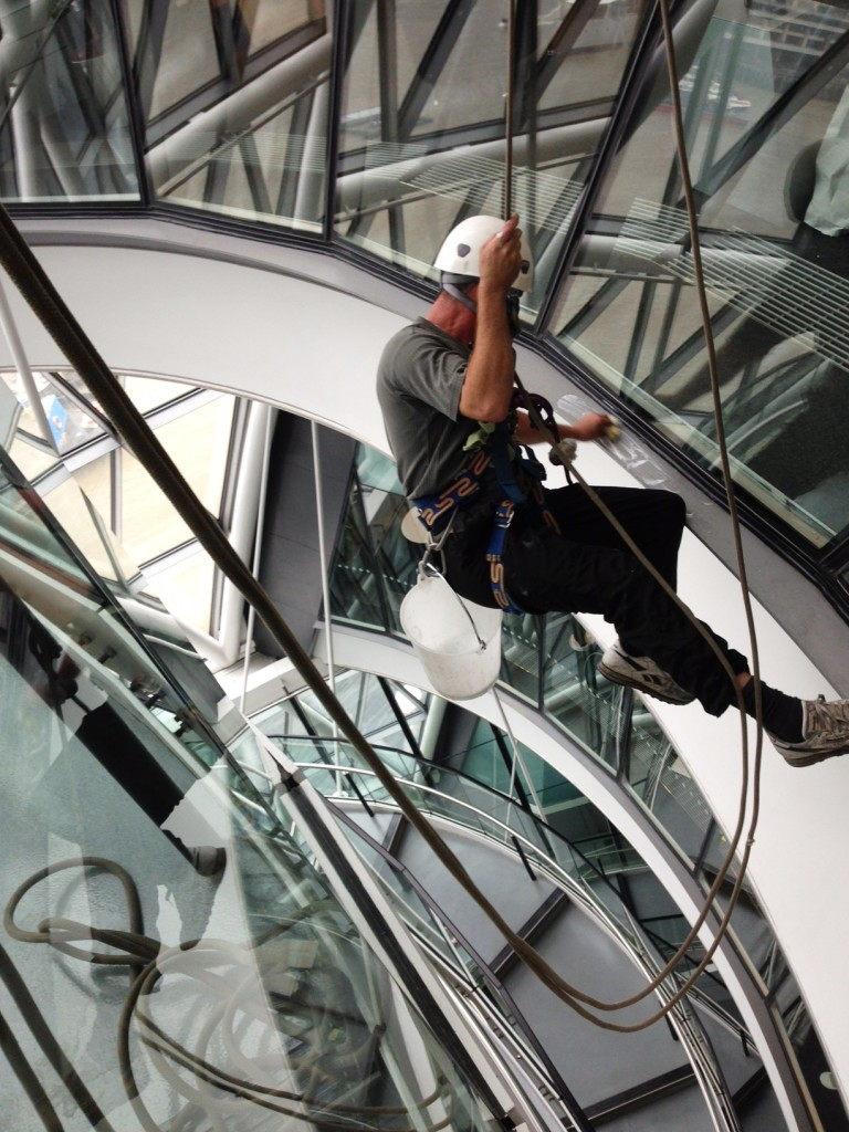 high level window cleaning london